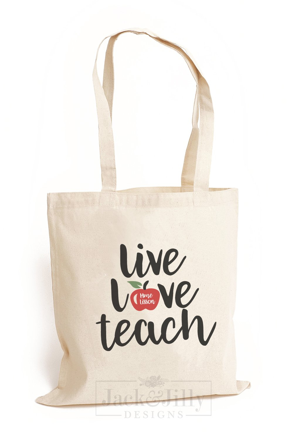 Personalized Teacher Tote Bag Over 12 Designs Jack