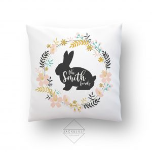 Family Easter Bunny Pillow