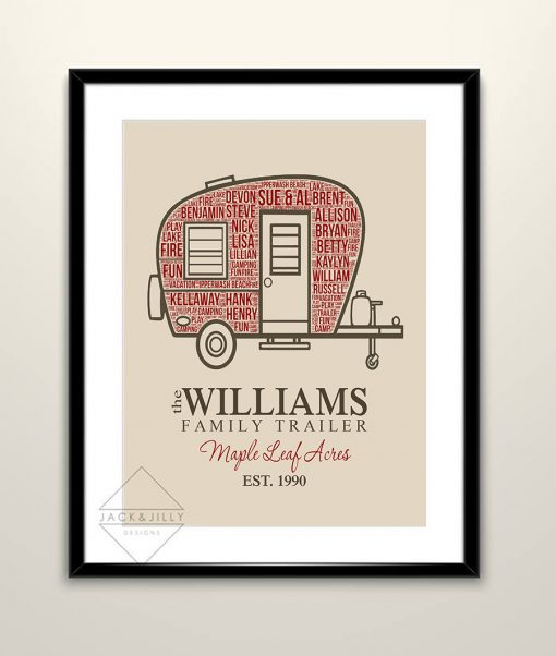 personalized trailer print trailer decor ideas