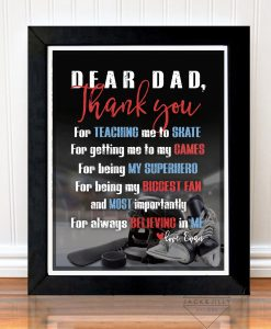 dad hockey print thank you personalized