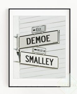 personalized road signs print