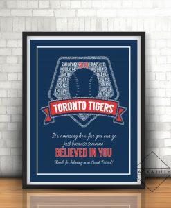 baseball coach print gift