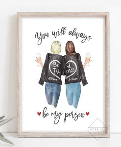best friend print besties gift canada