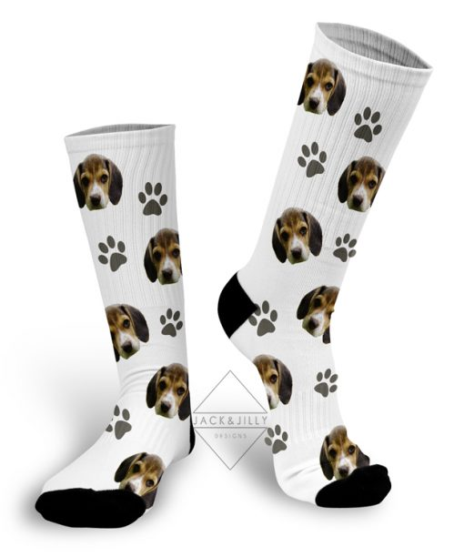 personalized dog photo socks canada