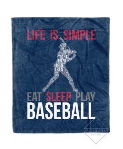 personalized baseball name blanket canada