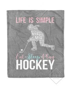 girl hockey blanket
