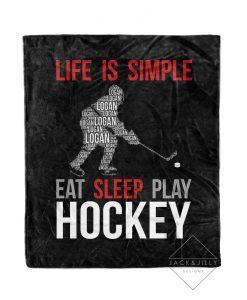 Personalized Blanket Canada Minky Hockey