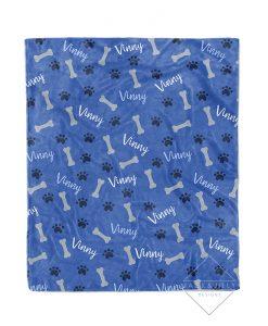 custom dog name blanket canada