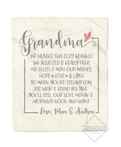 personalized throw blanket for grandma christmas