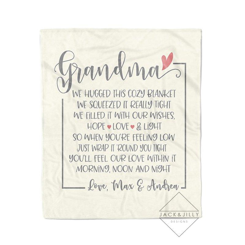 grandma blanket blanket with name blanket for adults