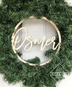 personalized wreath canada