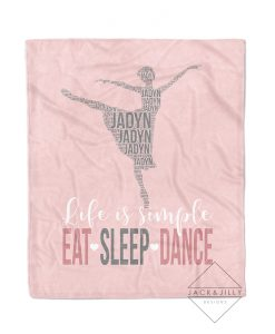 personalized dancer name blanket