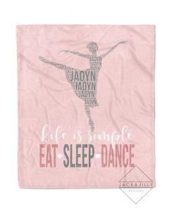personalized dancer name blanket