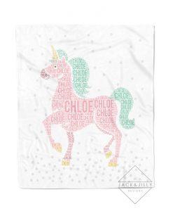 personalized unicorn name blanket canada