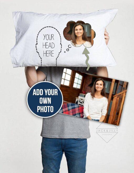 photo pillowcase throw pillow personalized