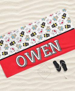 personalized beach towel canada