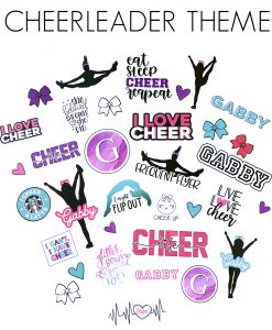 cheerleader stickers canada cheerleader gift cheer