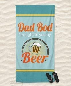 dad bod beach towel