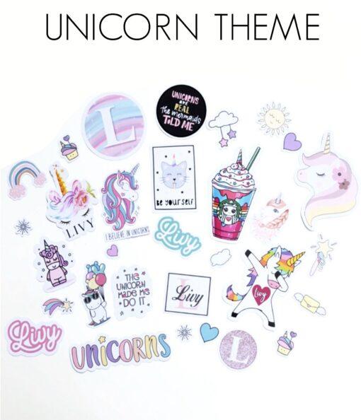 unicorn stickers canada personalized
