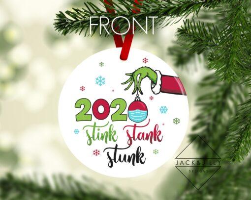 grinch 2020 christmas ornament