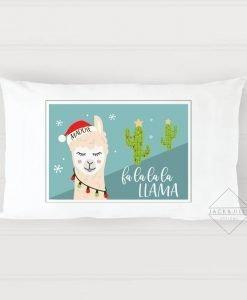 christmas pillowcase llama