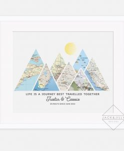 mountain adventure print