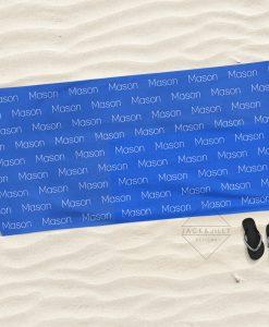 personalized beach towel