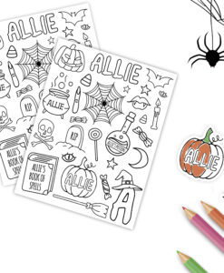 personalized halloween stickers canada